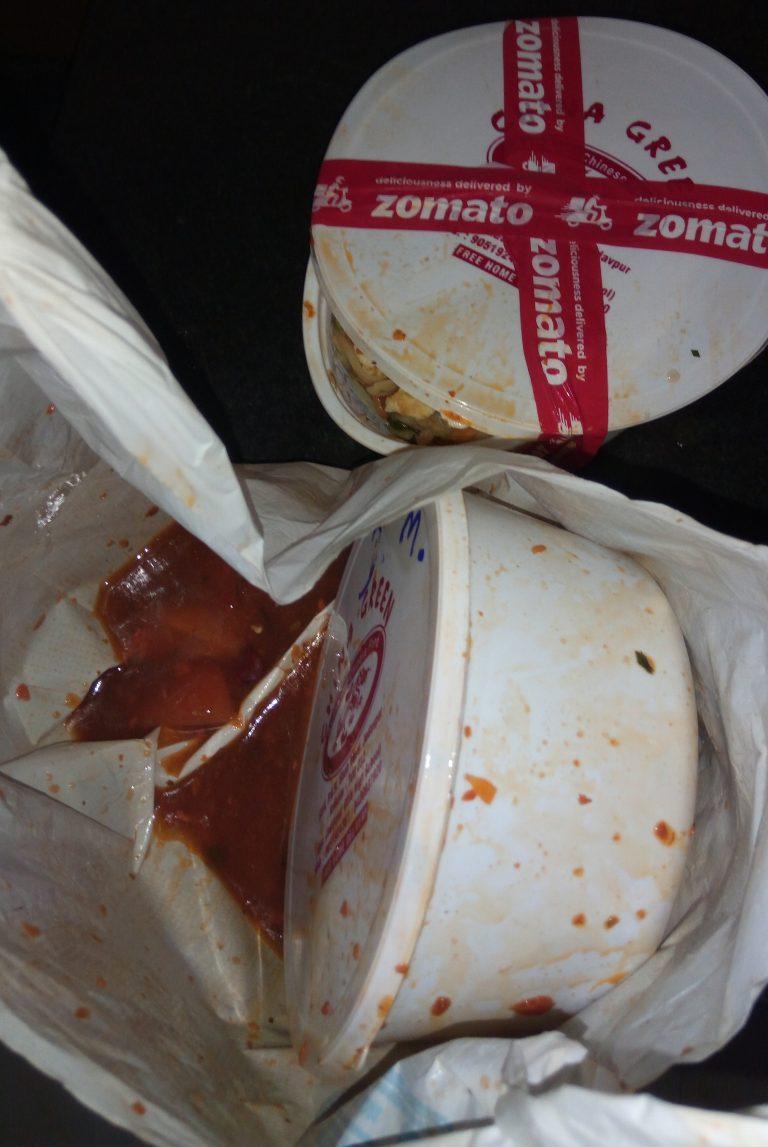 Damage food by Zomato in MATUOG